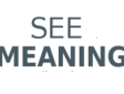 See Meaning website logo